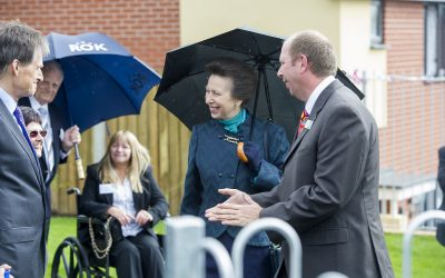 HRH The Princess Royal visits North Devon Homes, Forches Estate Regeneration Project