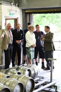 Royal Visit to Otter Brewery