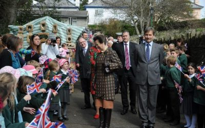 HRH Princess Royal visits Lynton and Lynmouth Cliff Railway