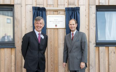 HRH The Earl of Wessex visits West Buckland School