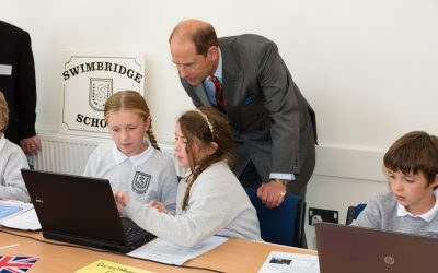HRH The Earl of Wessex visits Swimbridge Jubilee Community Hall