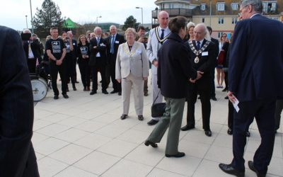 HRH Princess Royal visits Seaton Jurassic Visitors Centre