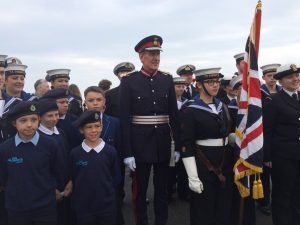 Lord Lieutenant of Devon with Torbay Sea Cadets 11.06.2016
