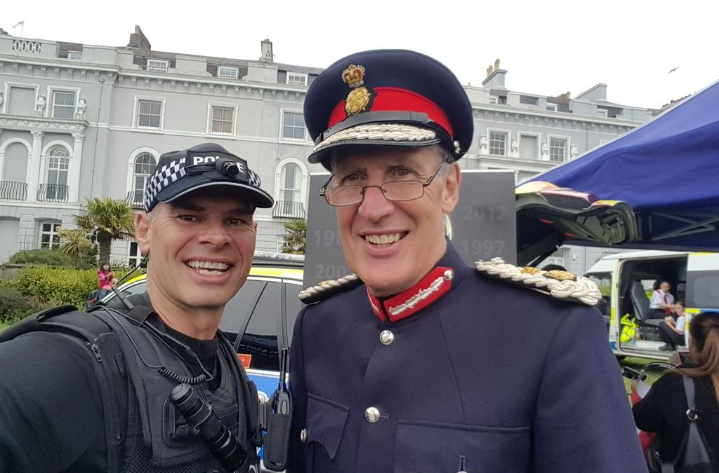 HM Lord Lieutenant of Devon at the Armed Forces Celebrations in Plymouth