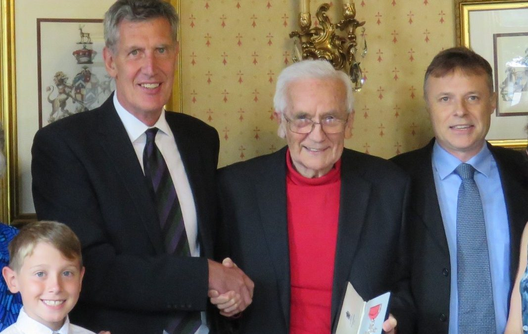 Mr Richard Turpin who was presented his MBE by HM Lord-Lieutenant of Devon