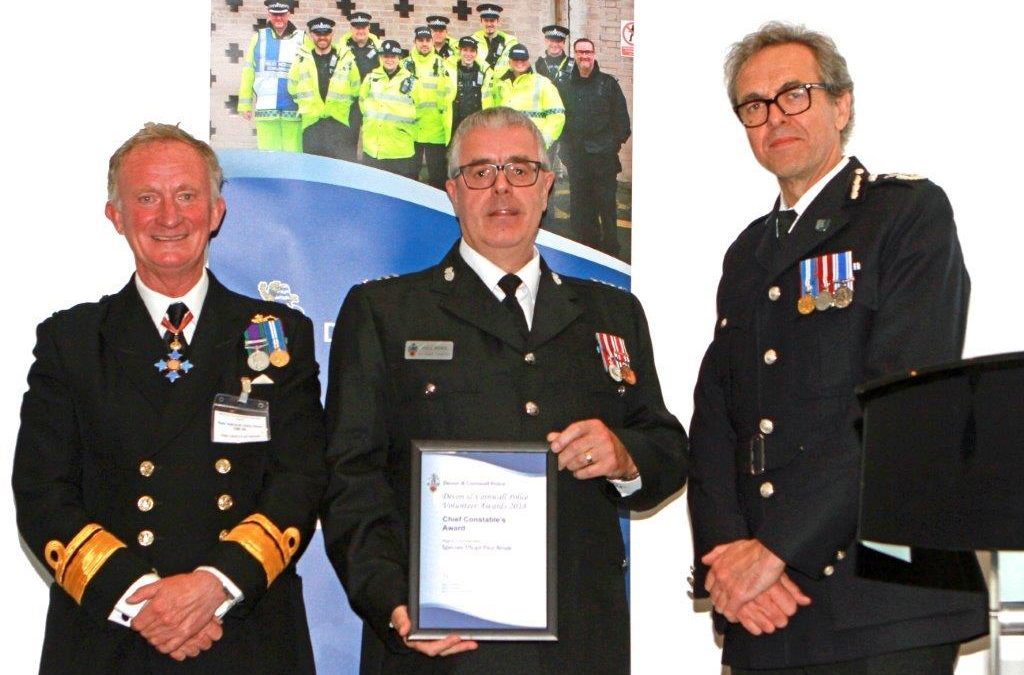 Devon & Cornwall Police Volunteer Awards held on 5th June 2018, Rear Admiral Chris Snow DL attended