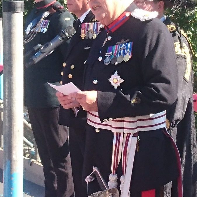 Sir Andrew Ridgway attends the opening of the Shrouds of the Somme