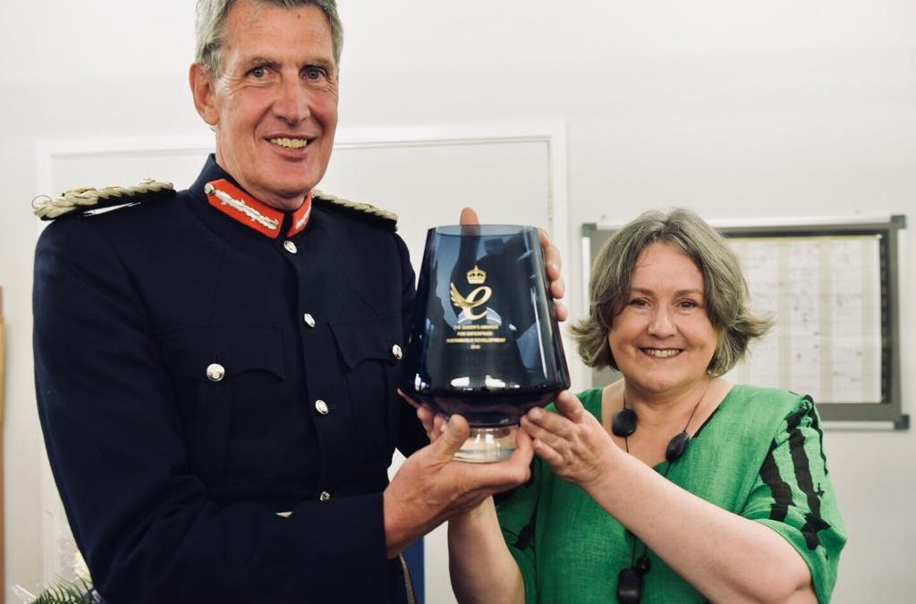 HM Lord Lieutenant of Devon presents HM Queens Award for Enterprise to Little Pod, Farringdon
