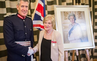 Royal honours received at a double awards ceremony
