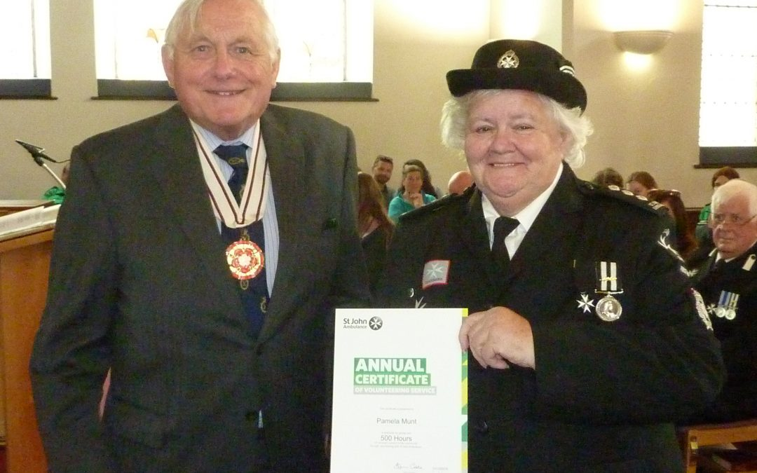 Philip Tuckett Deputy Lieutenant of Devon attended St Johns Ambulance Service on 30th June