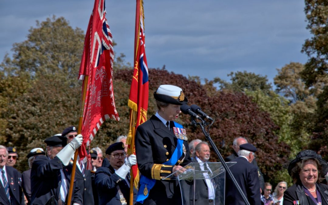 HRH Princess Royal unveils Merchant Navy Monument on 3rd Sept at Plymouth Hoe