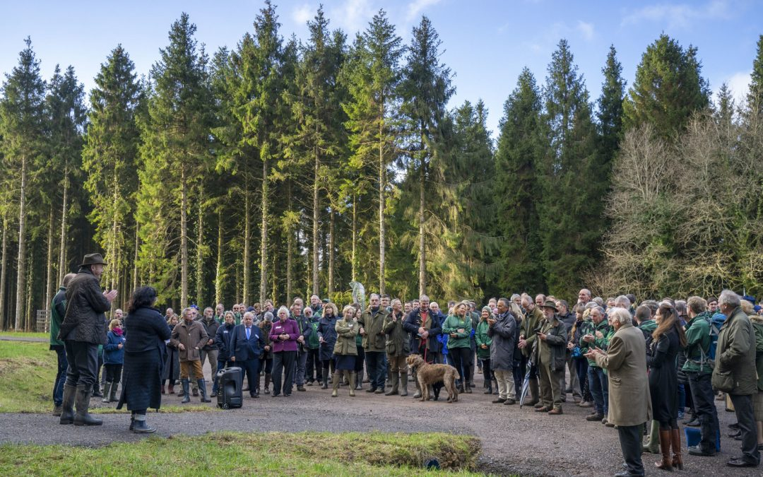 Grania Phillips DL attended the Tree Planting in Flashdown Woods in Egglesford Forest on Monday 9th December